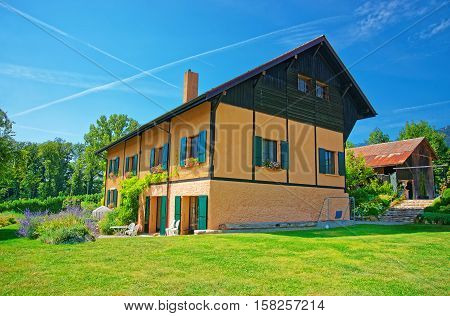 Swiss House At Yverdon In Jura Nord Vaudois Vaud Switzerland