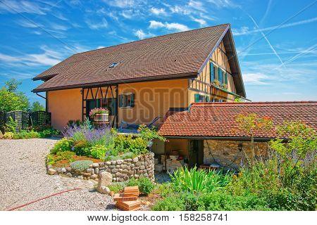 Village House In Yverdon Of Jura Nord Vaudois Vaud Switzerland