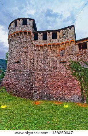 Visconteo Castle In City Center Of Locarno Of Ticino Switzerland