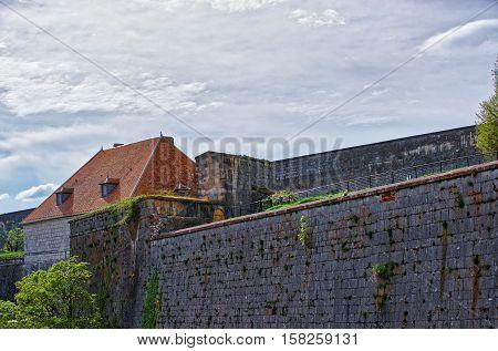 Walls In Citadel Of Besancon In Bourgogne Franche Comte France