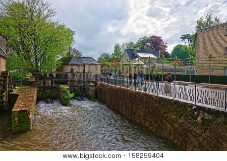 Water Mill And Aure River In Bayeux In Normandy France
