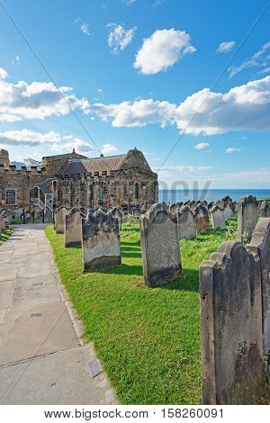 Whitby Churchyard And Cemetery In North Yorkshire Uk