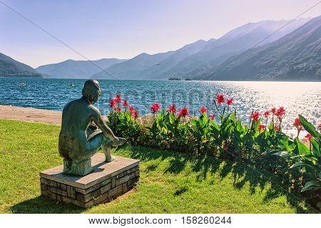 Woman Sculpture At Promenade In Ascona In Ticino In Switzerland