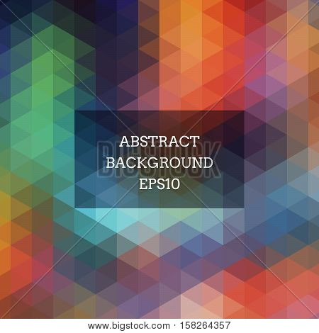 Abstract Background With Colored Triangles.