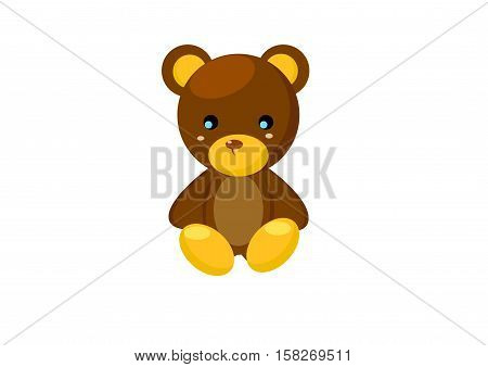 Bear animal illustration adorable animal avatar animal nature soft teddy child cuddly furry