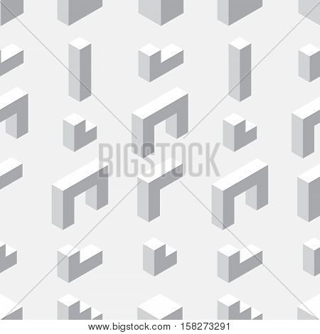 Seamless Pattern With Geometrical Figures.
