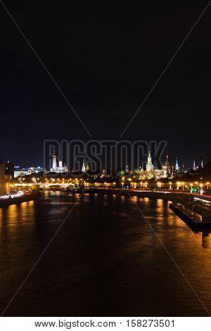 View Of Towers Of Kremlin