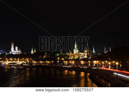 Towers Of Kremlin In The Evening