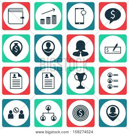 Set Of Human Resources Icons On Money Navigation, Tree Structure And Bank Payment Topics. Editable V