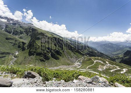 the High Himalaya mountains Himachal Pradesh Indian