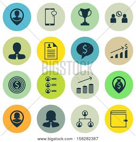 Set Of Hr Icons On Manager, Messaging And Business Woman Topics. Editable Vector Illustration. Inclu