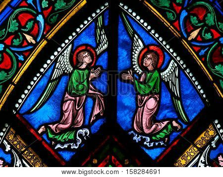 Stained Glass - Angels With Wings