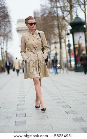 Elegant Parisian Woman On The Street