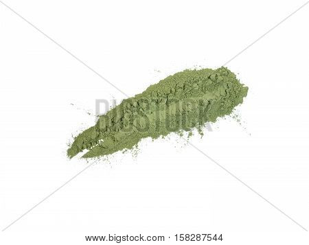 Indigo indigofera tinctoria natural powder sample stroke