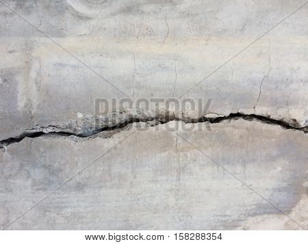 cracked concrete texture - crack on stone background