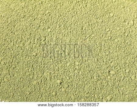 Indigo indigofera tinctoria natural dye powder closeup