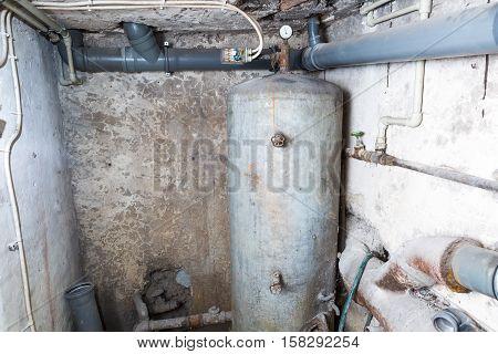 Boiler In Home Basement.