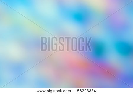 Abstract colorful blurry background cold blue and green color cast tone cinematic effect