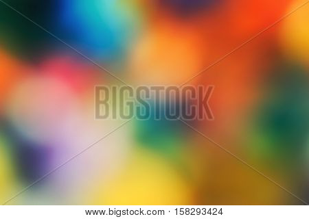 Abstract colorful blurry background warm colors tone sunny summer day cinematic effect toned with filters