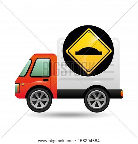 bump traffic sign concept vector illustration eps 10