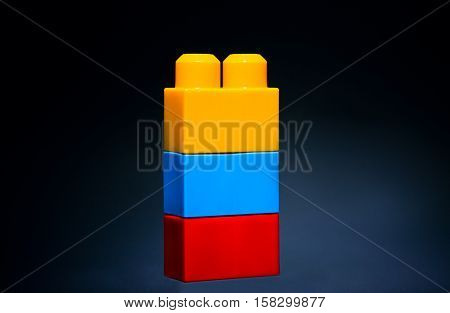Colorful children toy blocks learning creativity art concept