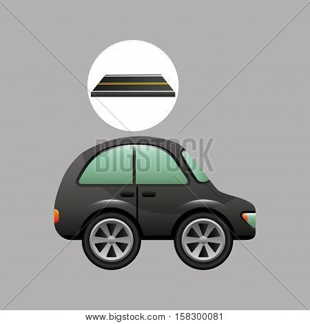 micro car on road design vector illustration eps 10