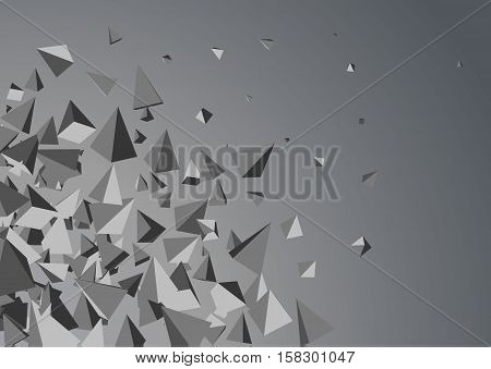Abstract background with triangles. Vector. Template design