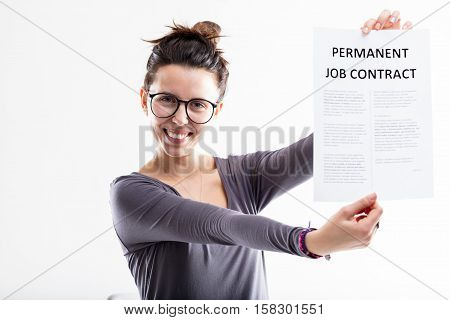 Permanent Job Contract Means Future