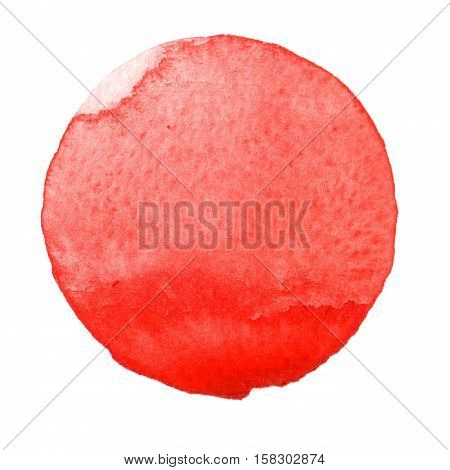 Watercolor red hand painted circle. Beautiful watercolor design elements. Watercolor background aurora red color winter 2017 fashion trend