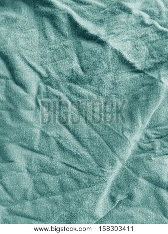 close up old blue fabric textile texture
