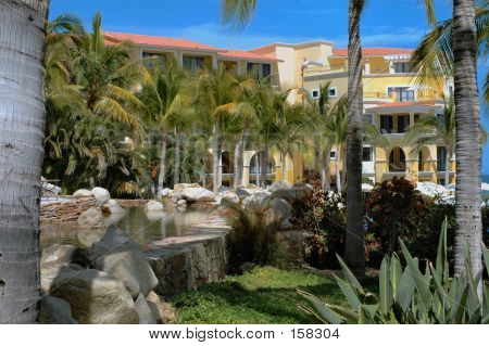 Elevated Pond At Resort In Cabo San Lucas, Mexico