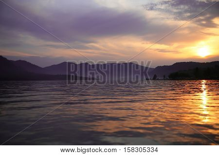 sunset in the mountains of Altai, mountain Altai