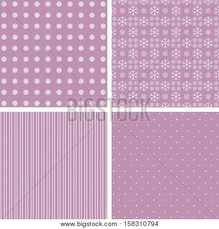 Collection pink patterns. illustration in pale pink.