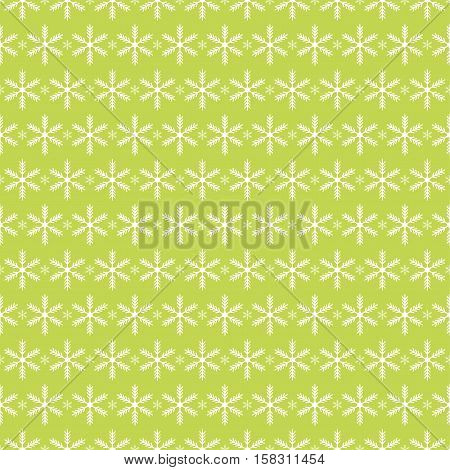 Snowflakes seamless pattern snow background. Vector image