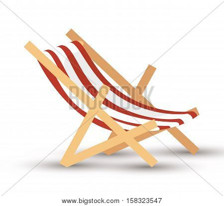 chair beach isolated icon vector illustration design