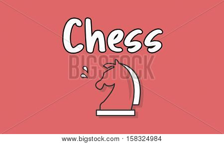 Knight Chess Piece Graphic Concept