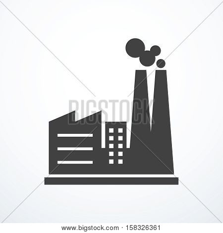 Vector factory icon. Vector illustration eps 10