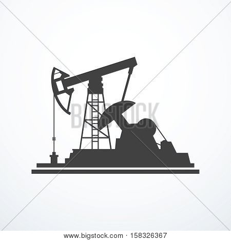 Oil pump icon. Vector illustration eps 10.
