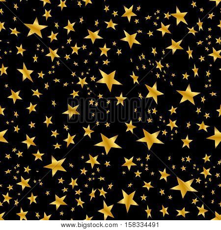 An image of a Gold Star Confetti Pattern.