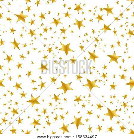 An image of a Gold Star Confetti Pattern on white background.