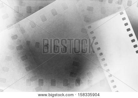 Overlapping film negative frames background