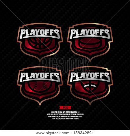 Modern Professional Playoffs Sports Logo Design.