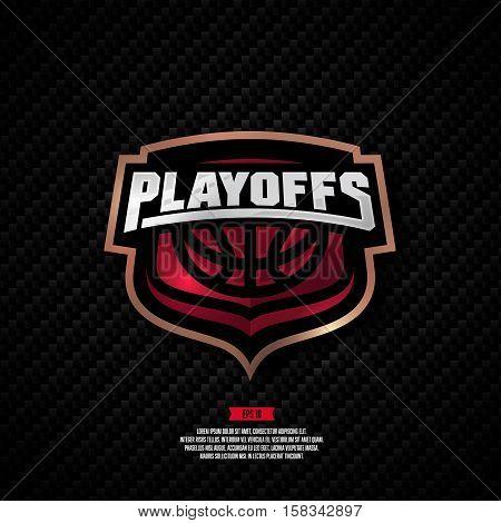 Basketball Playoff Logo Design.
