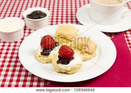 Cornish cream tea A traditional Cornish cream tea with a cup of tea