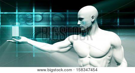 Smartphone Technology Application Development as a Concept 3d Render