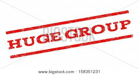 Huge Group watermark stamp. Text tag between parallel lines with grunge design style. Rubber seal stamp with scratched texture. Vector red color ink imprint on a white background.