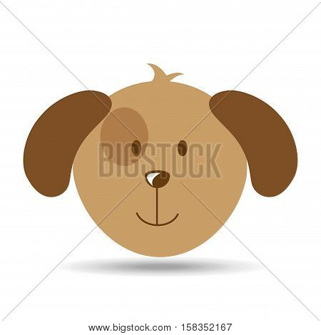 lovely head puppy dog funny vector illustration eps 10