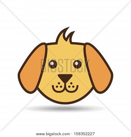 lovely face puppy dog vector illustration eps 10