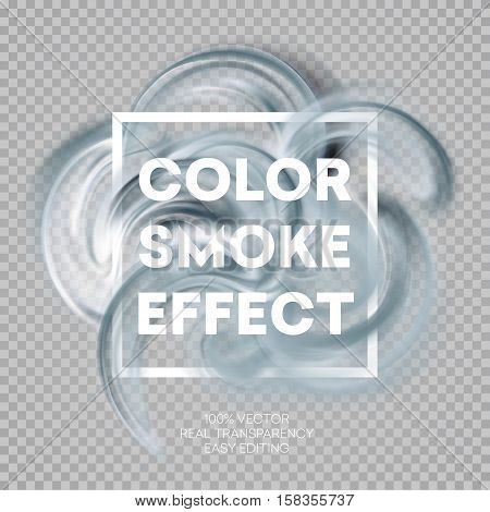 Abstract colored smoke effect background design. Vector illustration EPS10