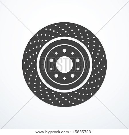 Brake disc icon. Vector illustration eps 10